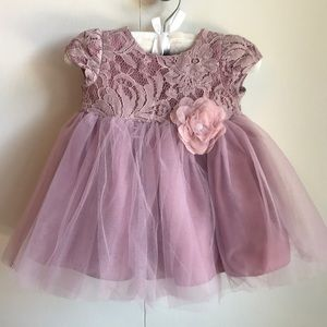 Pippa & Julie lilac lace & tulle dress w bloomers